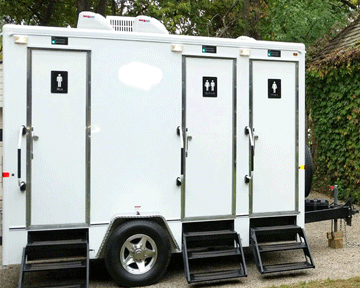 VIP Toilets by event tents